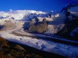 Gorner Glacier and Monte Rosa Massif, Valais, Switzerland Fotografisk trykk av Gareth McCormack