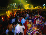 Crowds at Thaipusam Festival, Kuala Lumpur, Malaysia Photographic Print by Paul Beinssen