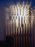 Reflection of Sun of Bank of America Building Through Fog, San Francisco, California, USA Photographic Print by Richard I'Anson