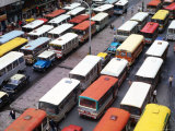 Overhead View of Peak Hour Traffic, Bogota, Colombia Photographic Print by Krzysztof Dydynski