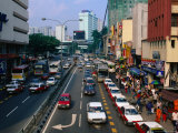 Busy Traffic on Chang Lok Street, Kuala Lumpur, Wilayah Persekutuan, Malaysia Photographic Print by Anders Blomqvist