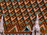 Detail of Roof of Matthias Church, Budapest, Pest, Hungary, Photographic Print by Roberto Gerometta