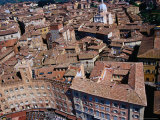 Aerial View of City from Top of Torre Del Mangia Siena, Tuscany, Italy Photographic Print by Glenn Beanland