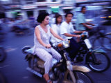 Motor Bike Traffic on Crowded Streets, Ho Chi Minh City, Ho Chi Minh, Vietnam Photographic Print by Greg Elms