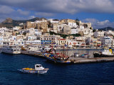Port and Town, Hora, Greece Photographic Print by Pershouse Craig