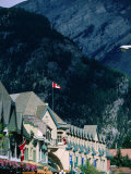 Banff Avenue Buildings and Surrounding Mountainsides, Banff National Park, Alberta, Canada Photographic Print by Lawrence Worcester