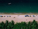 Sunbathers on Beach, Nha Trang, Vietnam Photographic Print by John Banagan