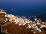 Town Above Livadi Harbour, Hora, Greece Photographic Print by Mark Daffey