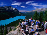 Lookout at Peyto Lake and Mistaya Valley, Banff National Park, Alberta, Canada Photographic Print by Lawrence Worcester
