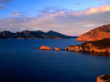 Carp Bay and Thouin Bay, Peaks of Mt. Freycinet &amp; Mt. Graham, Freycinet National Park, Australia Photographic Print by Barnett Ross