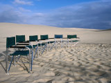 Deck Chairs on Sand at Stockton Sand Dunes, Newcastle, New South Wales, Australia Photographic Print by Dallas Stribley