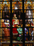 The Wonderful Stained-Glass Window of Cathedrale Des Stes Michel and Gudule, Brussels, Belgium Photographic Print by Doug McKinlay