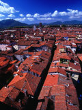 Houses from Above, Lucca, Italy Photographic Print by Setchfield Neil