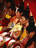 Tibetan Monks During Ceremony, Lhasa, China Photographic Print by Frank Carter