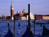 Gondolas and the View from San Marco, Venice, Veneto, Italy Photographic Print by Glenn Beanland