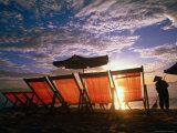 Sweeping Nha Trang Beach at Sunrise, Nha Trang, Khanh Hoa, Vietnam Photographic Print by John Banagan