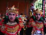 Actors at Ngenteg Linggih Festival in Kedewatan Village, Ubud, Indonesia Photographic Print by Michael Coyne