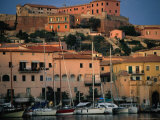 Buildings and Boats at Port, Portoferraio, Italy Photographic Print by Damien Simonis