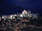 Church and Buildings on Hill, Lassithi, Greece Photographic Print by Setchfield Neil