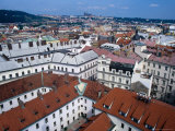Rooftops of Nove Mesto Towards Prague Castle, Prague, Czech Republic Photographic Print by Richard Nebesky