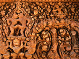 Bas-Relief Art of Banteay Srei, Angkor, Siem Reap, Cambodia Photographic Print by Anders Blomqvist