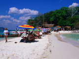 Tourists on Beach, Kao Si, Thailand Photographic Print by Nicholas Reuss