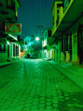 Street at Night, Flores, Guatemala Photographic Print by Ryan Fox