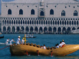 Shoe-Shaped Boat at Start of Vogalonga Rowing Marathon, Venice, Veneto, Italy Photographic Print by Roberto Gerometta