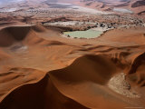 Huge Sand Dunes in Namib-Naukluft Desert Park, Sossusvlei, Namibia Photographic Print by Manfred Gottschalk
