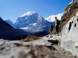 Hikers on Plain of Six Glaciers Trail, Banff National Park, Canada Photographic Print by Philip & Karen Smith