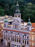 Town Hall Seen from Black Tower, Ceske Budejovice, Czech Republic Photographic Print by Witold Skrypczak