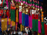 Decorations Hanging in Market Stall, Japan Photographic Print by Martin Moos