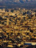 Cityscape from Notre Dame De La Garde, Marseille, France Photographic Print by Jean-Bernard Carillet