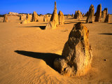 Rock Pinnacles in Desert Nambung National Park, Western Australia, Australia Photographic Print by Rob Blakers