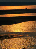 Mekong River at Sunset, Vientiane, Laos Photographic Print by Anders Blomqvist
