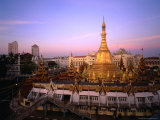The 46 Metre High Sule Paya, a Yangon Landmark Circled by Busy Streets, Yangon, Myanmar (Burma) Photographic Print by Anders Blomqvist