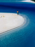 Man Fishing in Lagoon, New Caledonia Photographic Print by Jean-Bernard Carillet
