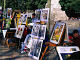 Art Sellers on La Rambla, Barcelona, Catalonia, Spain Photographic Print by Christopher Groenhout