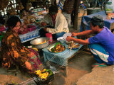 Preparing Food at Market, Luang Prabang, Luang Prabang, Laos Photographic Print by Anders Blomqvist
