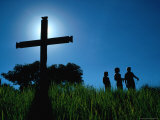 Hill Top Cross, Philippines Photographic Print by Eric Wheater