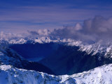 Snowy Mountain Ranges, Fiordland National Park, New Zealand Photographic Print by Nicholas Reuss