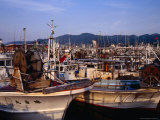 Fishing Boats in Port, Wajima, Japan Photographic Print by Martin Moos