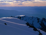 Ridges from Mt. Carruthers in Winter, Kosciuszko National Park, New South Wales, Australia Photographic Print by Grant Dixon