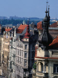 Buildings along Masarykovo Embankment, Prague, Czech Republic Photographic Print by Richard Nebesky