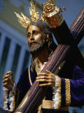Statue During Holy Week Festival, Malaga, Spain Photographic Print by Setchfield Neil