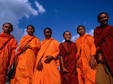 Monks at Angkor Wat, Angkor, Cambodia Photographic Print by Michael Coyne