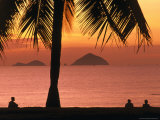 People on Nha Trang Beach at Sunrise, Nha Trang, Khanh Hoa, Vietnam Photographic Print by John Banagan