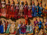 Traditional Rajasthani Puppets for Sale, Jaisalmer, India Photographic Print by Frances Linzee Gordon