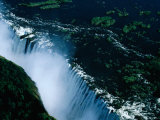 Aerial View of Victoria Falls, Victoria Falls Park, Zimbabwe Photographic Print by David Wall