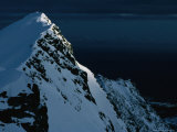 Peak on South End of Lofoten Island and the Ocean, Henningsvaer, Lofoten, Nordland, Norway Photographic Print by Christian Aslund